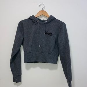 Semi-cropped hoodie